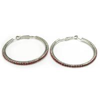 Fine red hoop earrings
