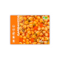 Stewed chickpeas with vegetables - 300g