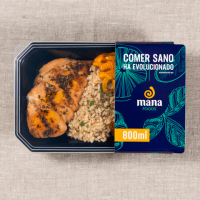 Cajun chicken with integral rice and vegetables ManaFoods - 1