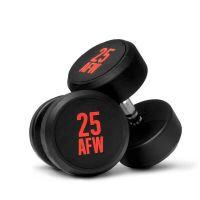 Dumbbells rubber ng - 30 kg AFW Strength - 1