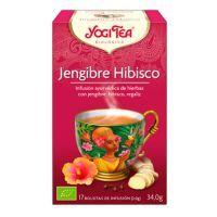 Yogi tea hibiscus ginger - 17 sachets Yogi Organic - 1