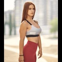 Bar layered workout bra Grey